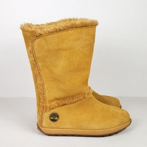 Timberland Wheat Suede Pull On Mukluk Boots 7.5